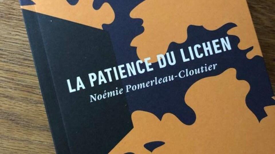 La page couverture du recueil de Noémie Pomerleau Cloutier La patience du lichen.