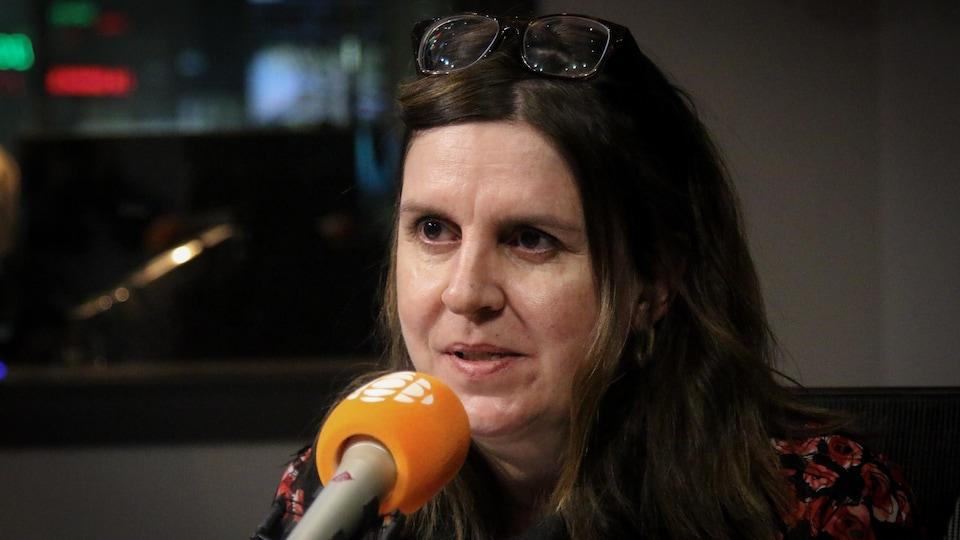 Patricia M. Gagné, en studio.