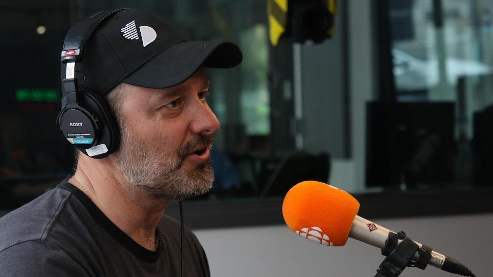 Patrick Martin, en studio.