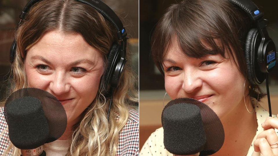 Montage de deux photos de Stéphanie et Mélanie Boulay