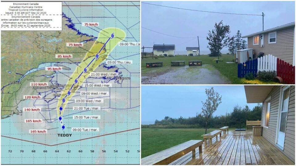 L'ouragan Teddy frappe les Maritimes
