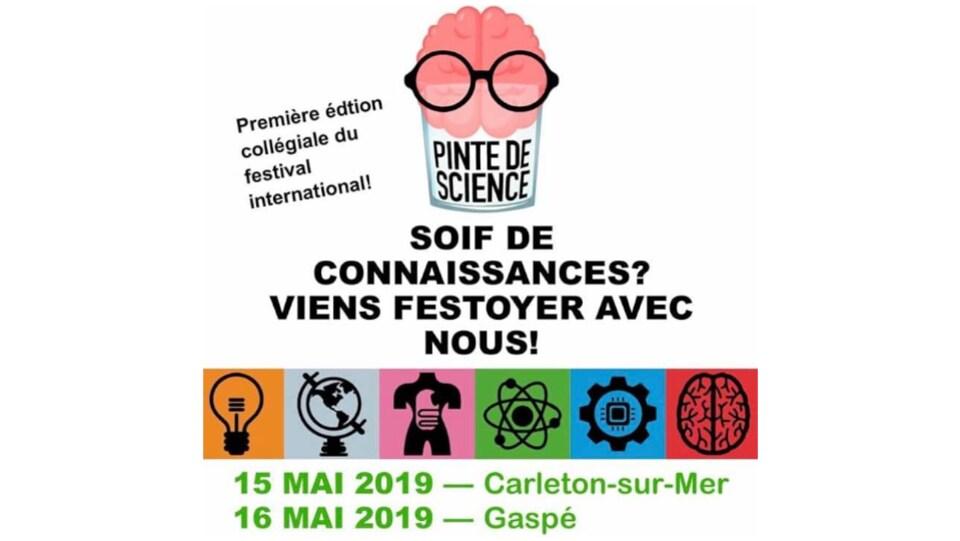 L'évènement «Pinte de science» à Gaspé et Carleton-sur-mer