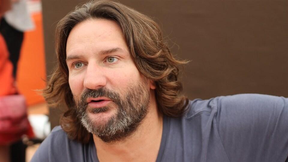 Frédéric Beigbeder en 2014 au Livre sur la Place, à Nancy, en France