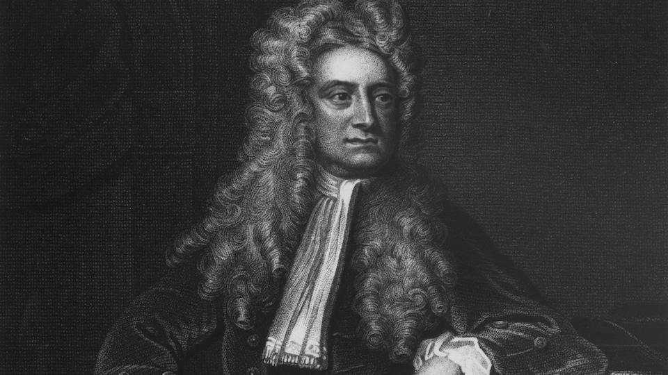 Un portrait du mathématicien et physicien Isaac Newton (1642-1727)