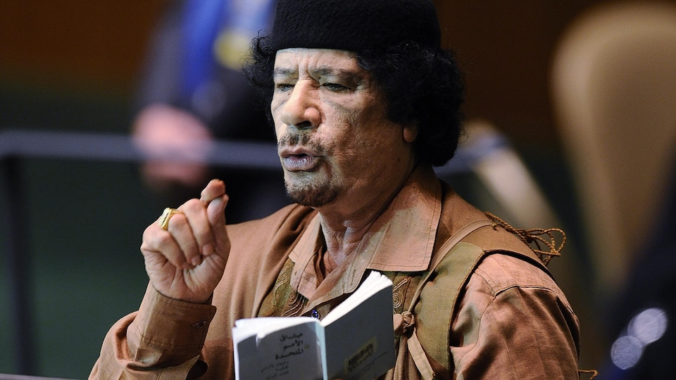 Mouammar Kadhafi aux Nations unies le 23 septembre 2009