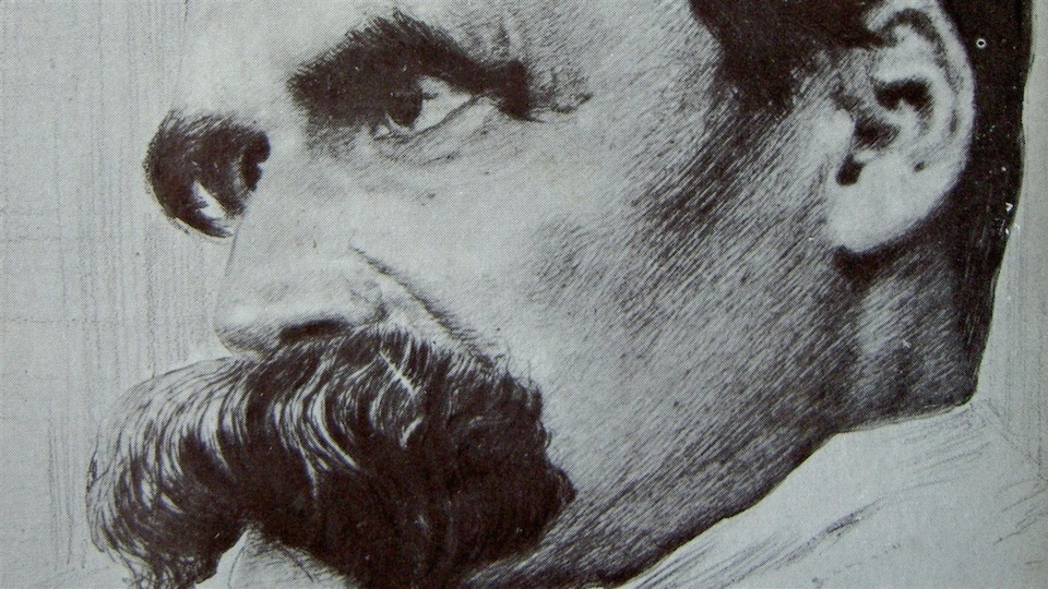 Détail d'un dessin de Nietzsche tiré du magazine <em>Pan</em>, édition 1899/1900