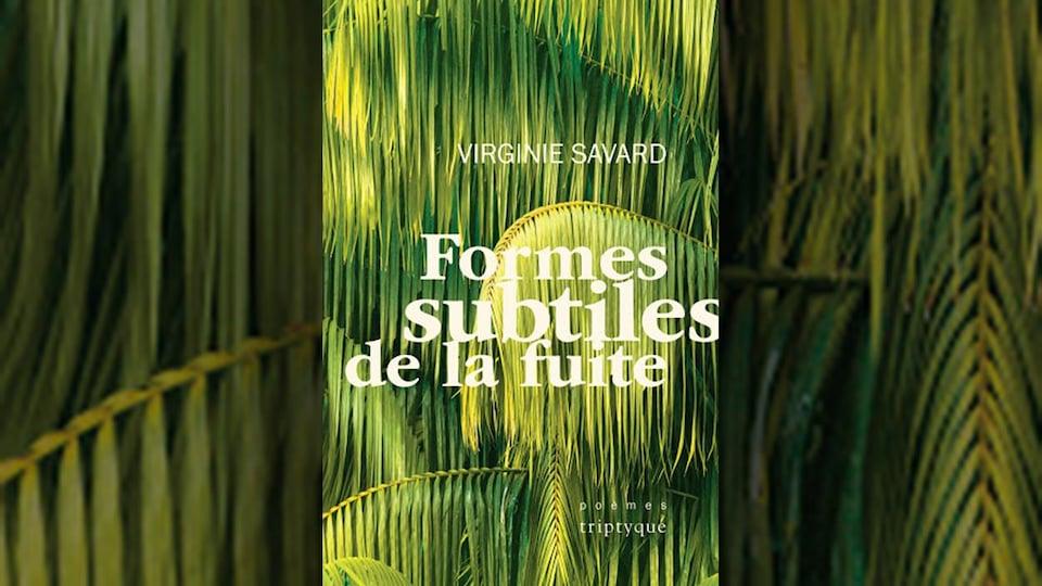 Couverture de livre avec des feuilles végétales de type tropical.