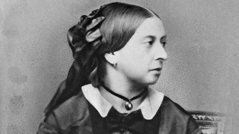 Un portrait datant de 1860 de la reine Victoria fait par le photographe français Antoine Claudet.
