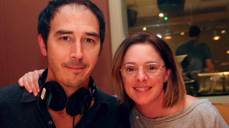 Les comédiens Steve Laplante et Catherine Trudeau
