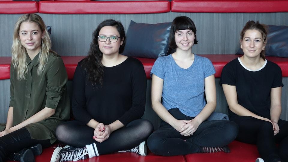 Charlie Paillé. Maude Bergeron, Franie Éléonore Bernier et Sara Couillard