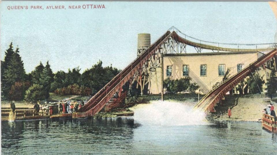 Image historique d'un parc d'attraction