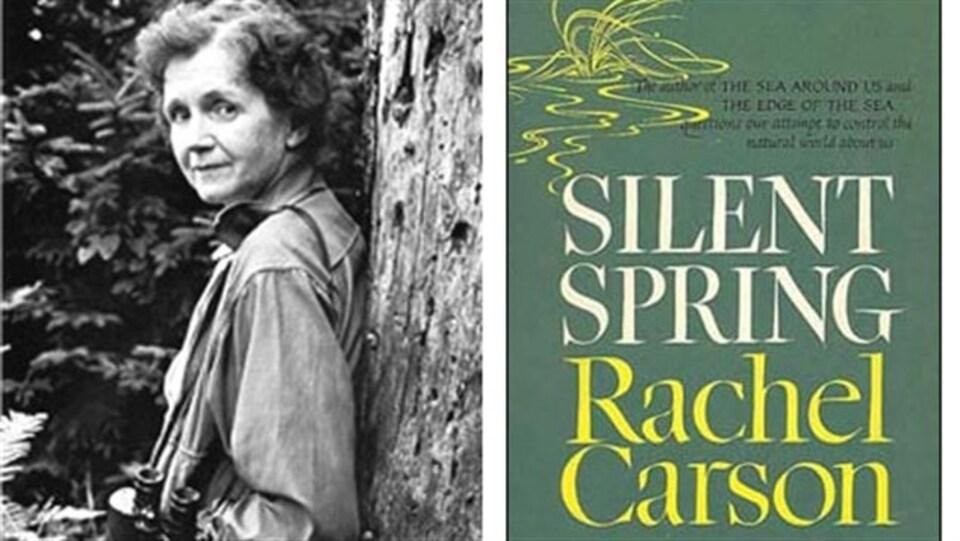 Le livre Silent Spring et son auteure.