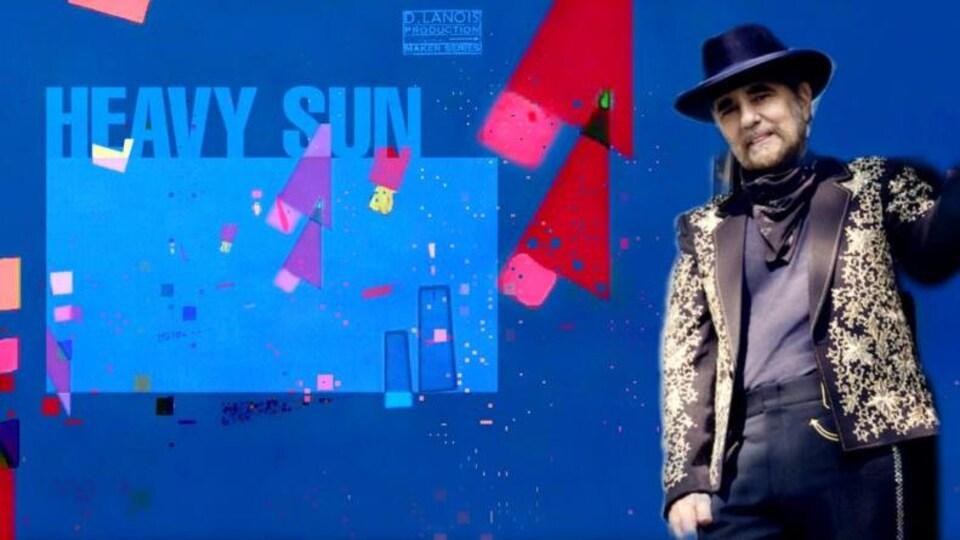 Daniel Lanois et la pochette de son album Heavy Sun.