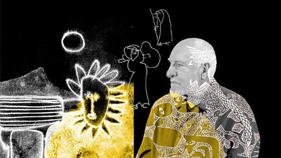 Image tirée du documentaire Territoires des amériques sur l'artiste René Derouin de Patrick Bossé