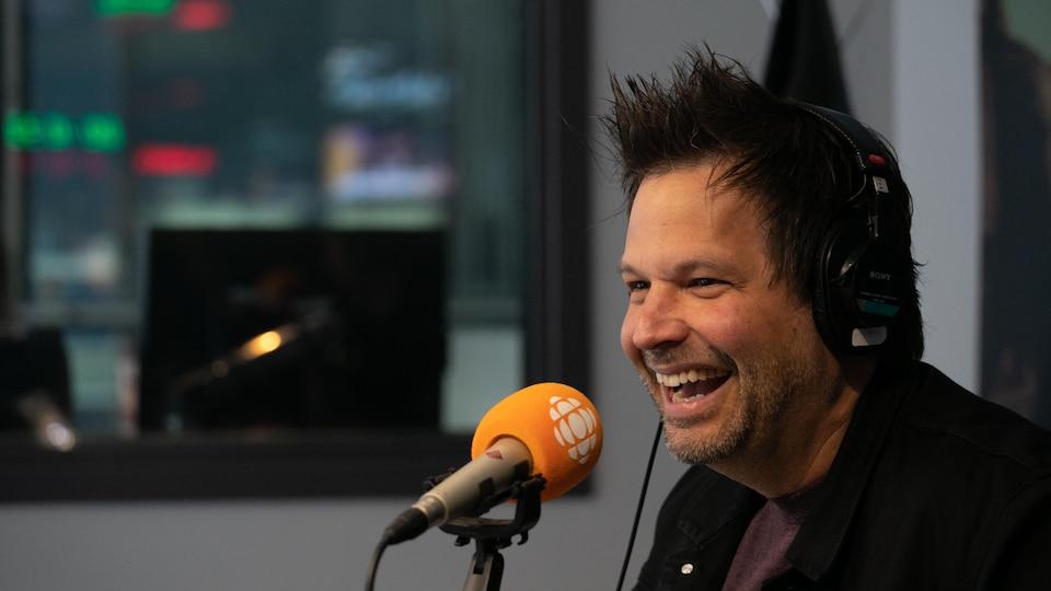 Sylvain Parent-Bédard, en studio