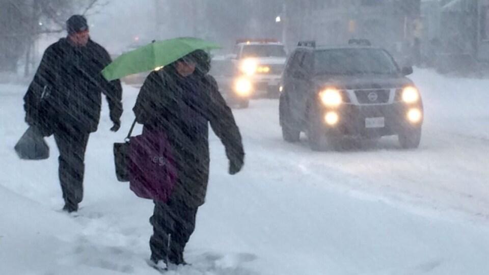 La tempête devrait déposer jusqu'à 15 centimètres de neige sur le sud-est du Nouveau-Brunswick, jeudi