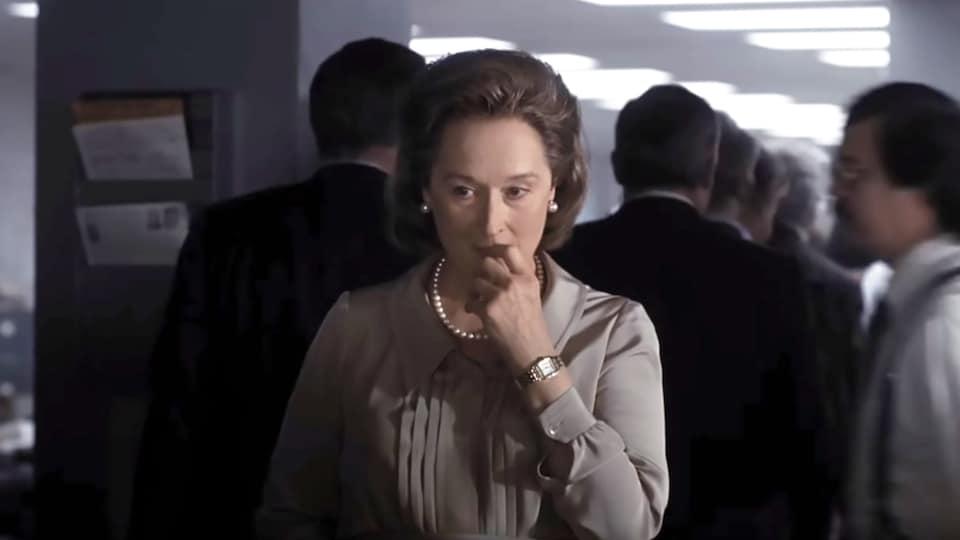 L'actrice Meryl Streep dans son rôle pour le film » Le Post ».