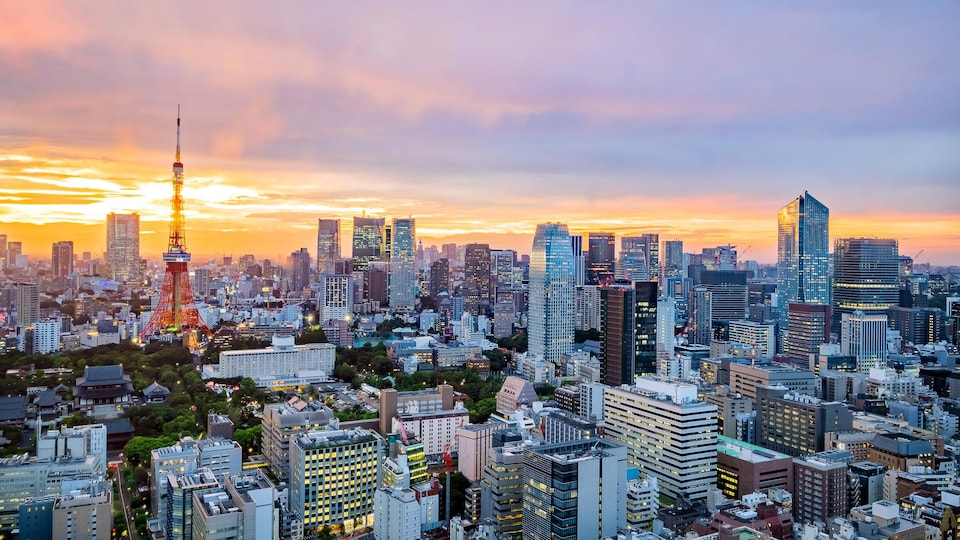 La ville de Tokyo, au Japon.