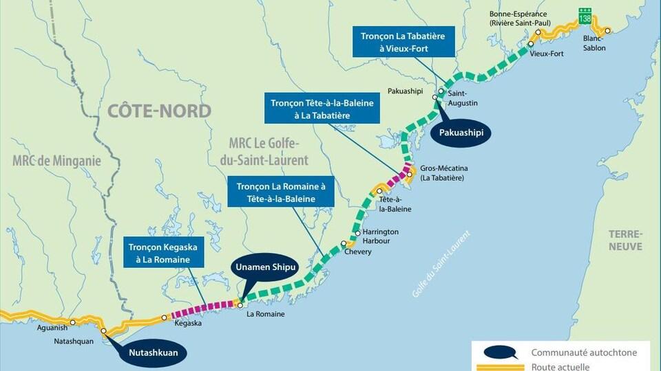 Le ministère des Transports lancera les travaux préparatoires au prolongement de la route 138 à l'été 2021.