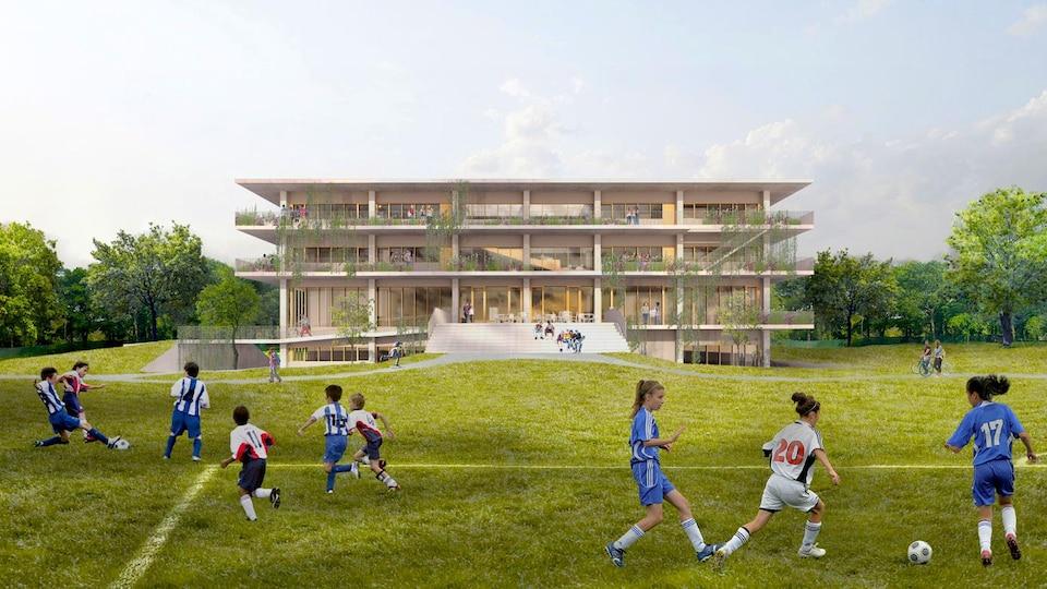 Image représentant la nouvelle école secondaire Sainte-Anne.