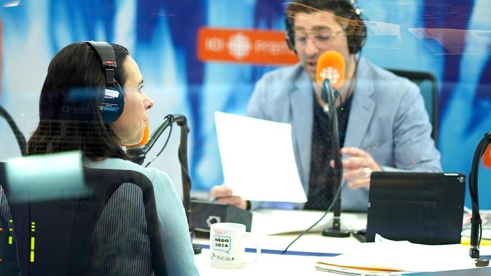 Valérie Plante, dans le studio de Tout un matin