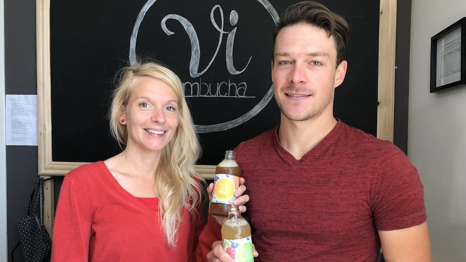 Anouck Goulet et Benoit Daoust ont fondé Vi Kombucha au printemps 2018.