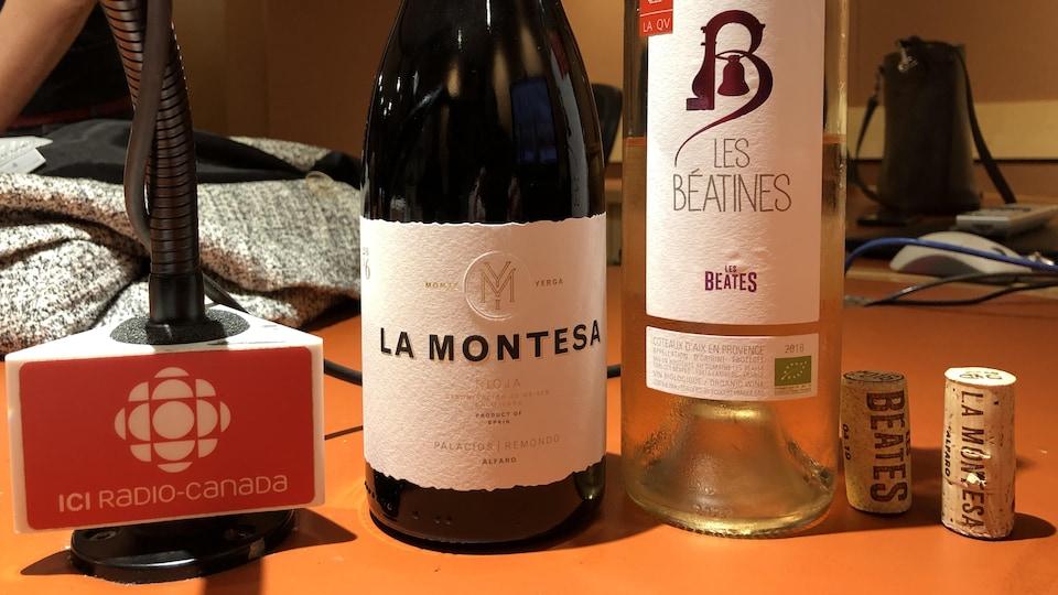 Les vins d'Élyse Lambert.