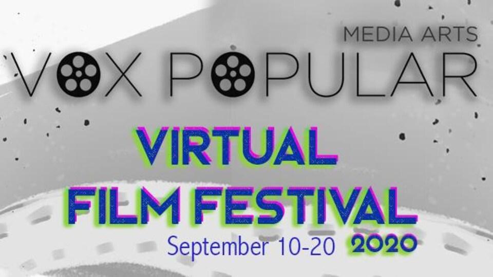 L'affiche du festival Vox Popular comprend un dessin d'un vieux projecteur.