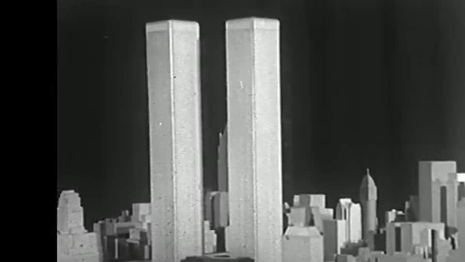 Maquette des tours jumelles du World Trade Center datant de la fin des années 1960.