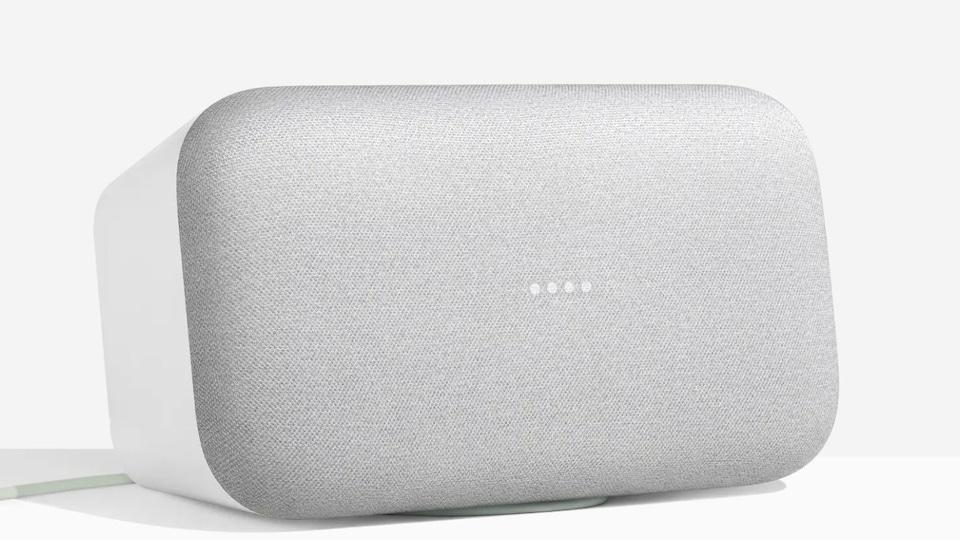 Le haut-parleur et assistant virtuel Google Home Max.