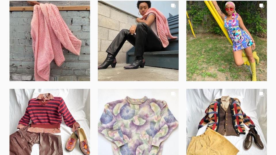 À cause de la pandémie, la propriétaire de la boutique de vêtements Nouveau Riche Vintage s'est tournée vers la vente en ligne sur son site web et d'autres plateformes comme Instagram