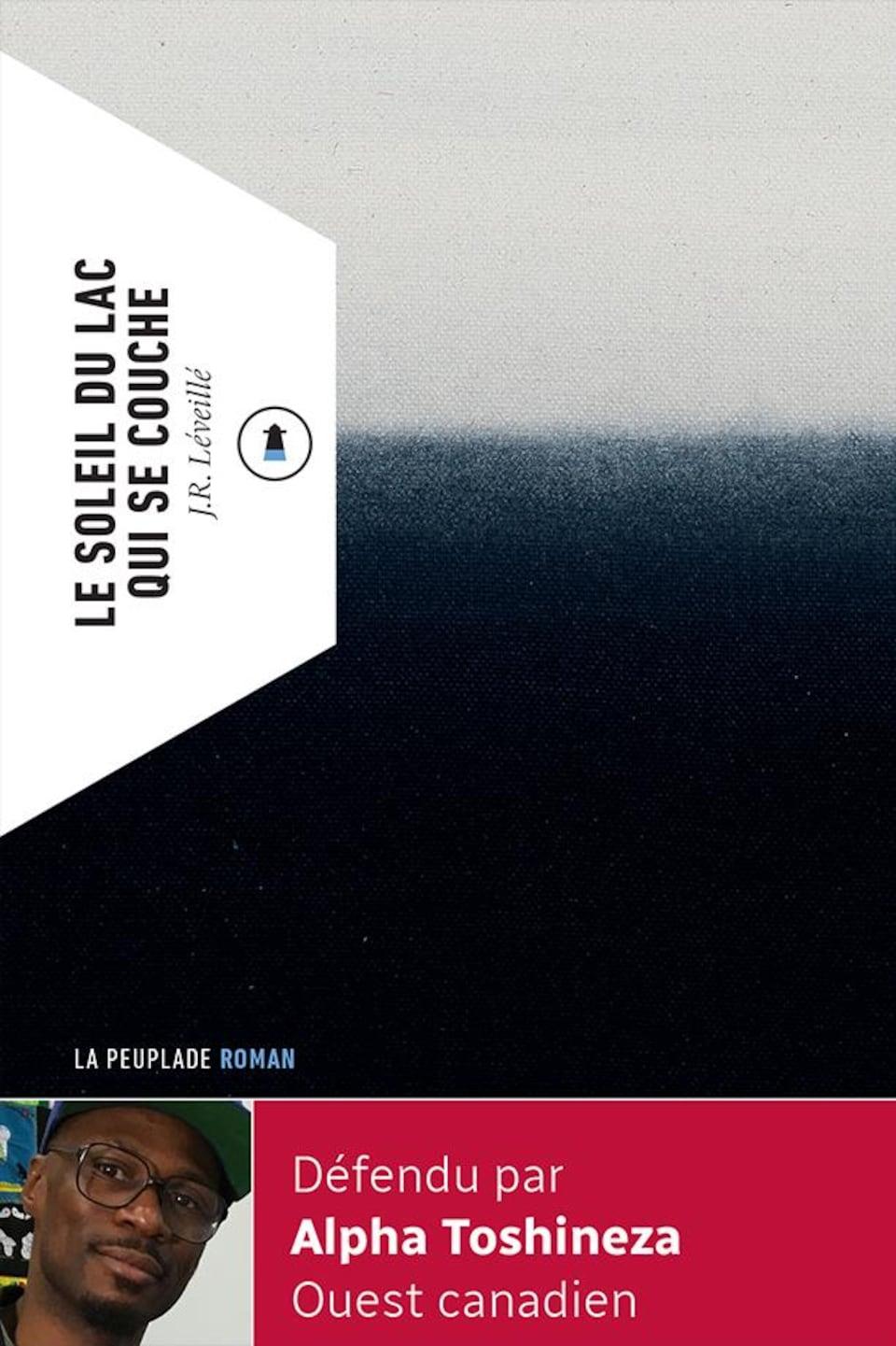 La couverture du livre est séparée en deux horizontalement, couleur sombre en bas et claire en haut.