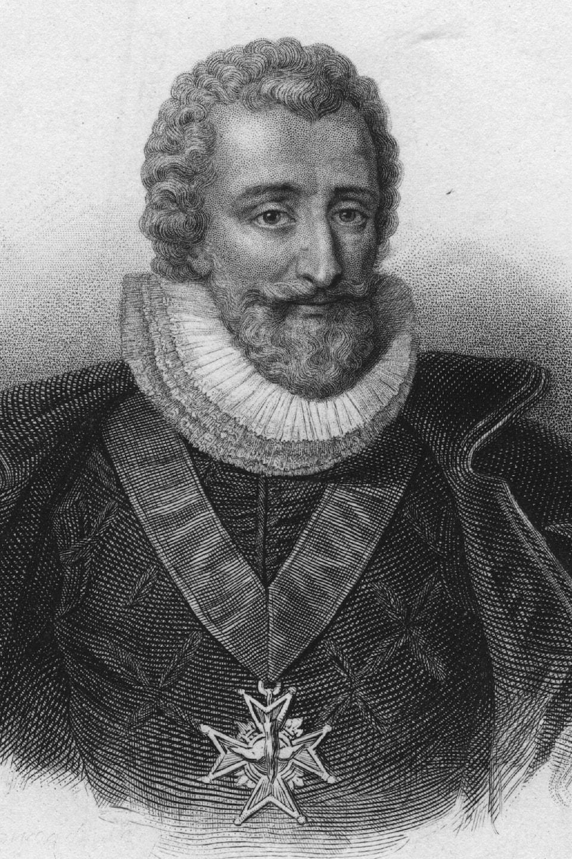 Gravure représentant le roi de France Henri IV.