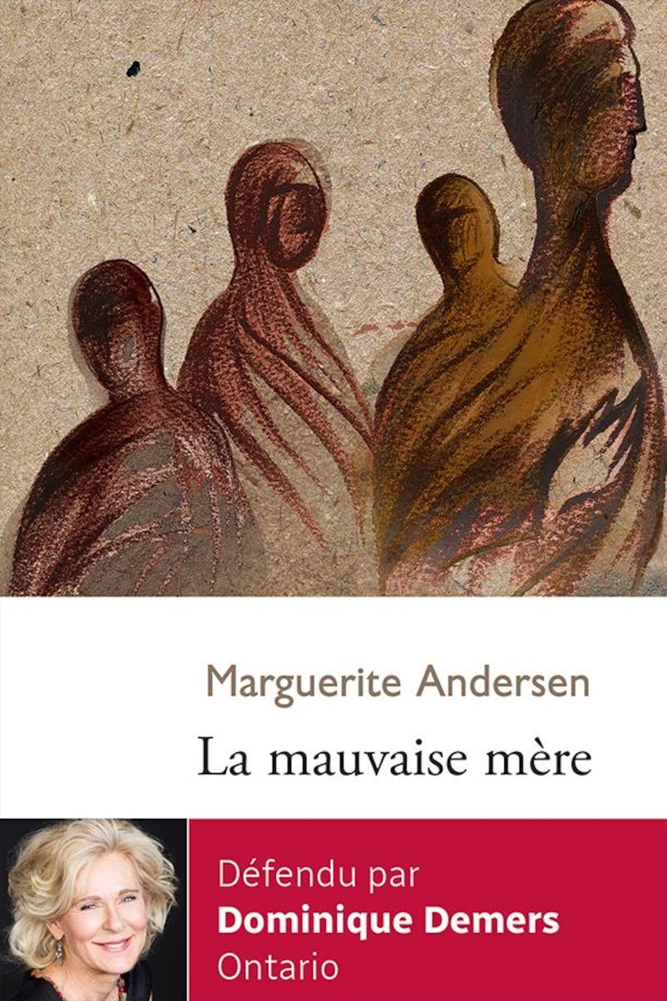 Sur la couverture du livre La mauvaise mère, une illustration représentant quatre silhouettes