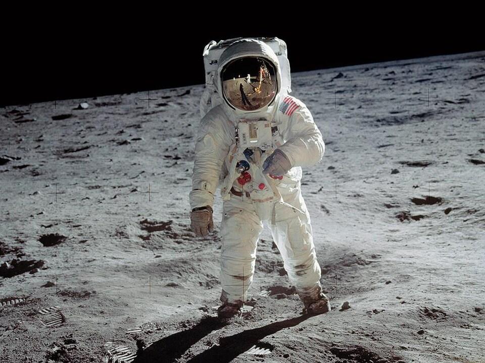 L'astronaute Buzz Aldrin sur la Lune.