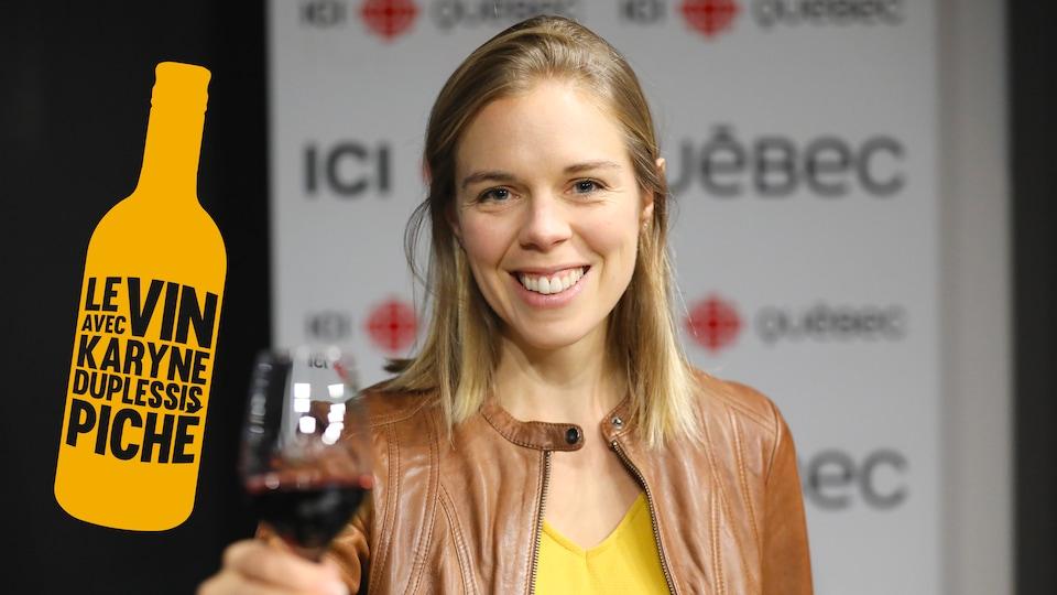 Karyne Duplessis-Piché et ses suggestions de vin.