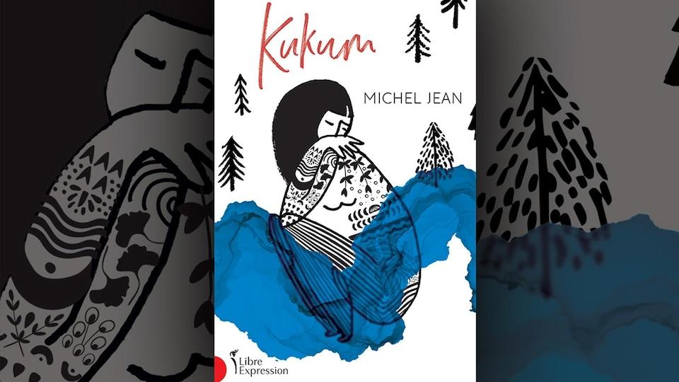 Couverture dessinée montrant une femme et une rivière.