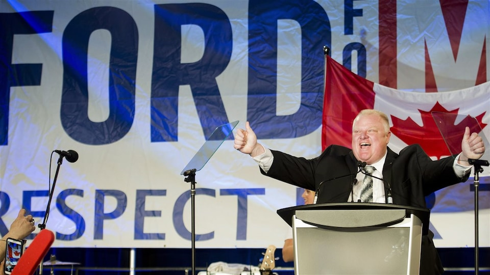 Rob Ford se lance officiellement dans la course à la mairie.