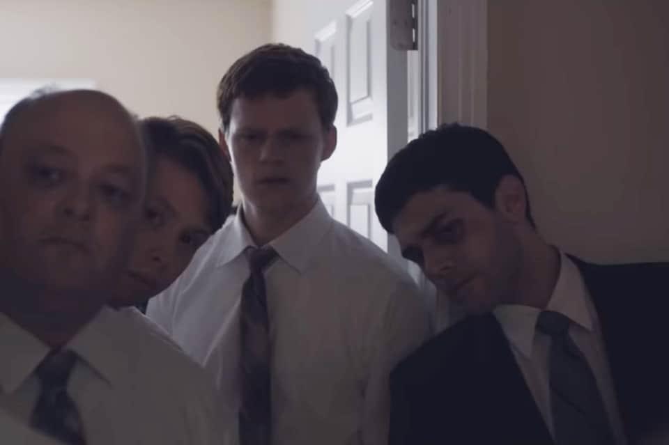Lucas Hedges et Xavier Dolan dans <em>Boy erased</em>