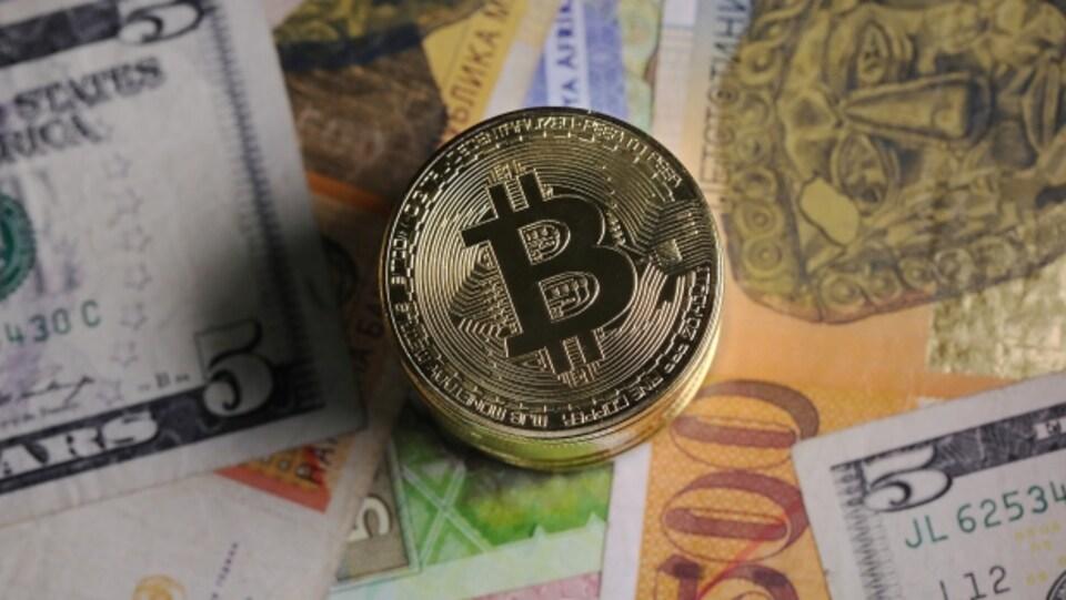 Une représentation visuelle du bitcoin.