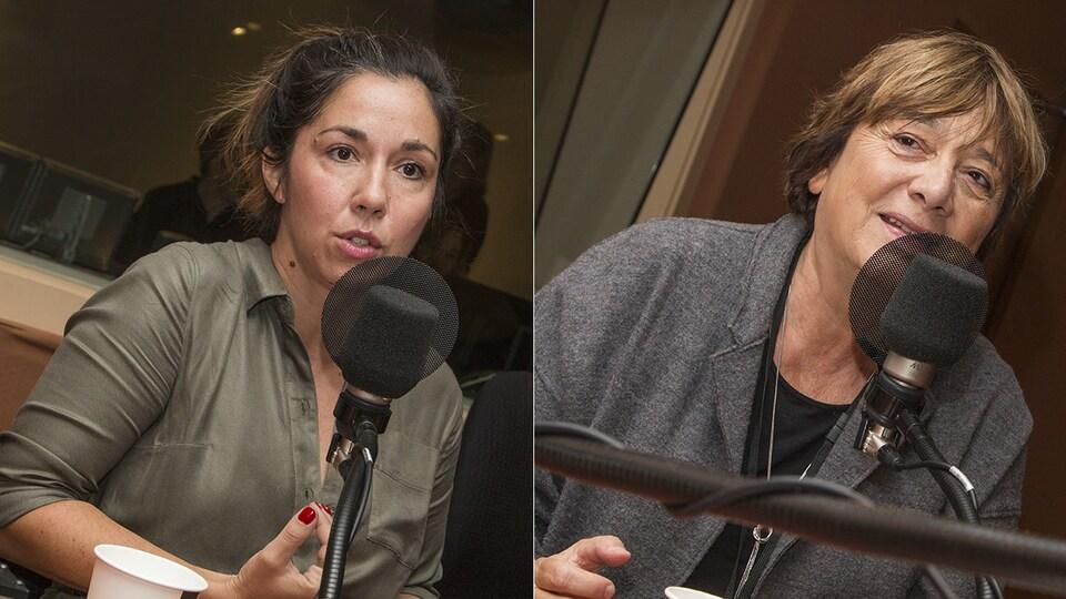Sophie Bienvenu et Léa Pool au micro de Catherine Perrin