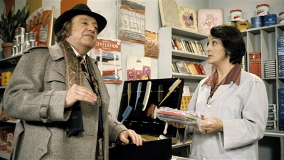 Jean Jolivet (René Caron) et Inonda Dugas-Marsouin (Nicole LeBlanc), personnages de «Rue des Pignons», en 1977