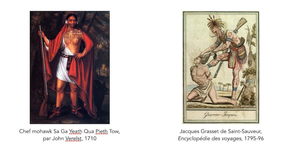 Des tatouages iroquois
