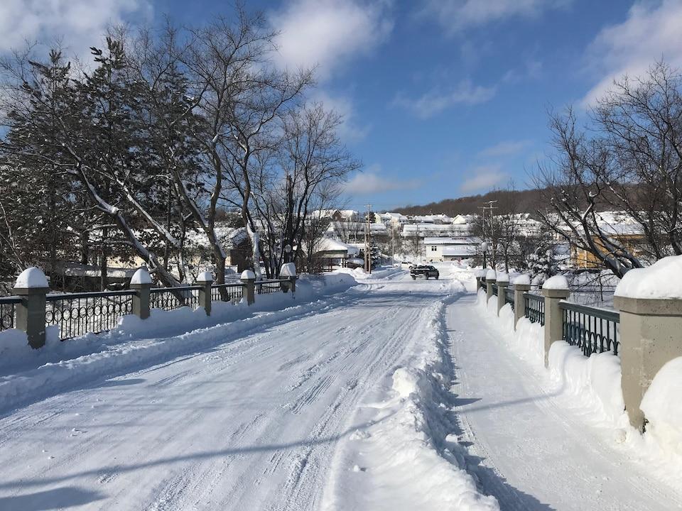La Ville de Temiscaming en hiver.