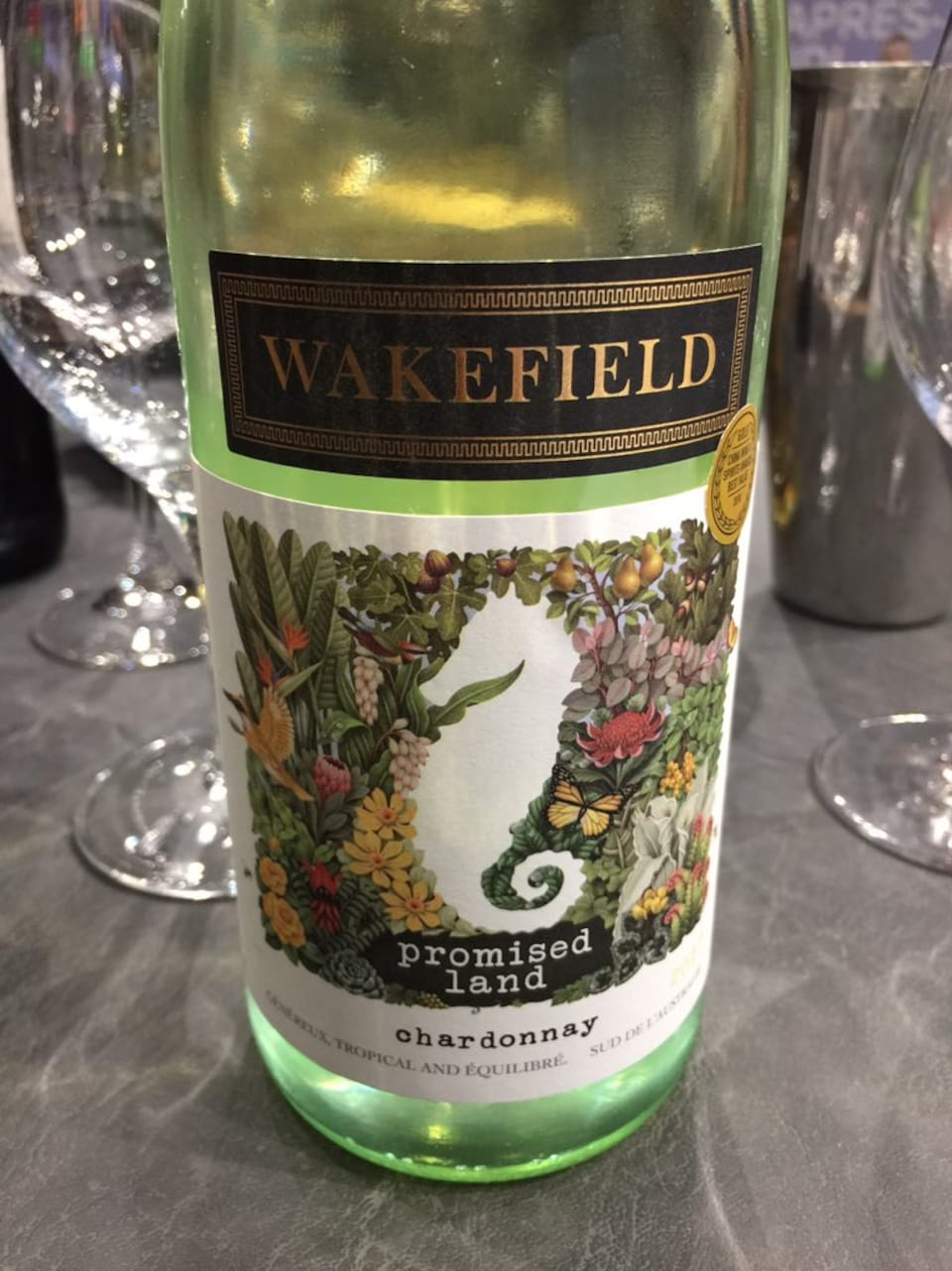 Wakefield Promised Land Unwooded Chardonnay 2017 | Code SAQ 12505743 | 14,60$