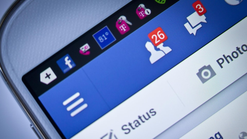 Demande d'amitié sur l'application mobile de Facebook.