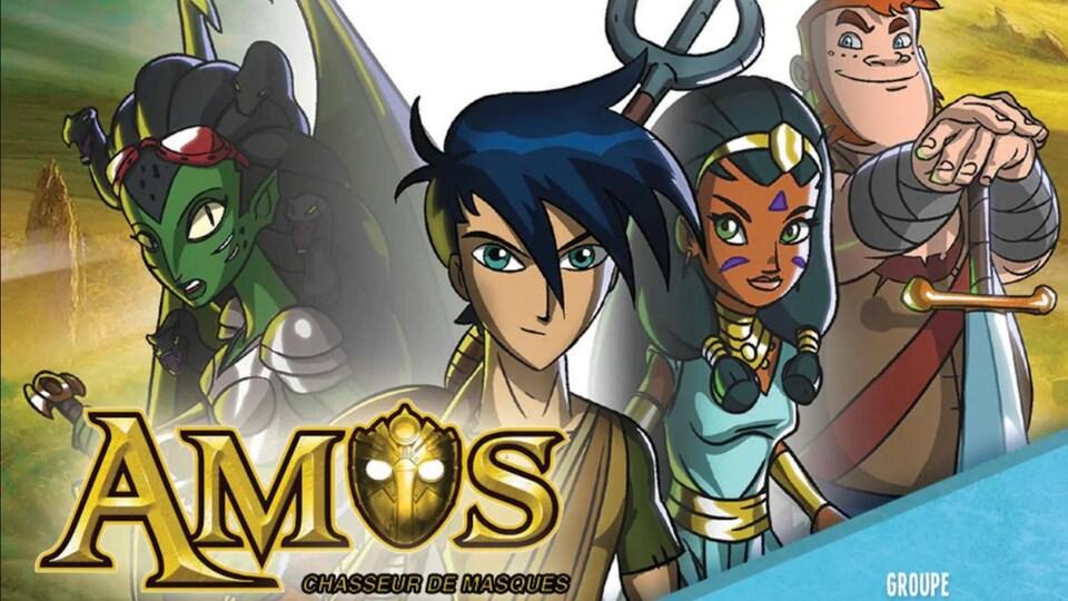 L'affiche de l'émission Amos, chasseur de masques.