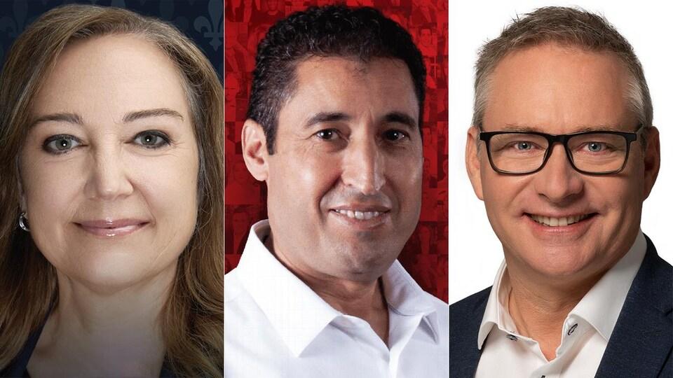 Trois candidats aux élections fédérales dans Drummond.