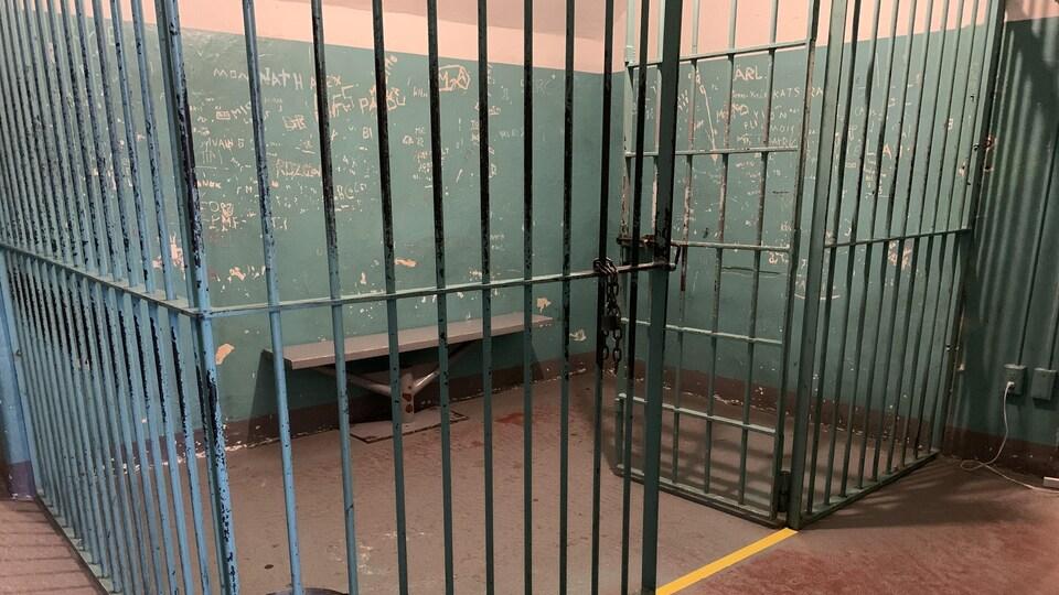 Cellule où l'on enfermait temporairement les détenus à la Vieille prison de Trois-Rivières.