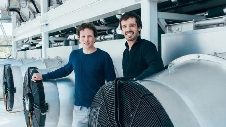 Les fondateurs de Climeworks, Christoph Gebald et Jan Wurzbacher.